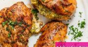 طرز تهیه سینه مرغ پر شده خوشمزه و مجلسی با قارچ و پنیر و اسفناج