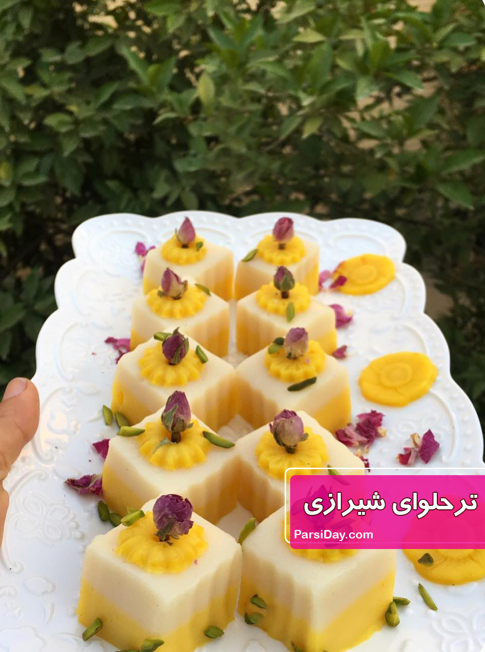 طرز تهیه ترحلوای شیرازی خوشمزه و مجلسی مرحله به مرحله