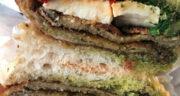 طرز تهیه ساندویچ بادمجان و قارچ بسیار خوشمزه و ساده با پنیر فتا