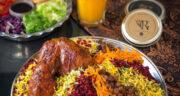 طرز تهیه پلو هفت رنگ مجلسی با مرغ برای چهارشنبه سوری