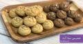 طرز تهیه شیرینی سه آرد ساده و خوشمزه با سه رنگ و بدون فر