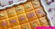 طرز تهیه باقلوا هندی نارگیلی خانگی ساده و خوشمزه با مغزیجات