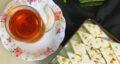 طرز تهیه لوز نارگیلی یخچالی یزدی با گلاب بدون نیاز به فر