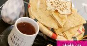 طرز تهیه نان شلشلو بندری ساده و خوشمزه برای صبحانه و عصرانه