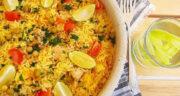 طرز تهیه پائیا اسپانیایی خوشمزه با سبزیجات مرحله به مرحله