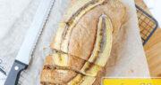 طرز تهیه کیک موزی و گردویی ساده و بسیار خوشمزه با پف زیاد