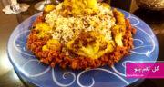 طرز تهیه گل کلم پلو با گوشت چرخ کرده خوشمزه به روش شیرازی