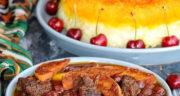 طرز تهیه خورش آلبالو و سیب ساده، خوشمزه و مجلسی با گوشت