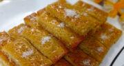 طرز تهیه باقلوا نارگیلی زعفرانی خوشمزه و مجلسی به روش هندی