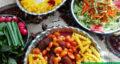 طرز تهیه خورش لوبیا سفید مجلسی ارومیه با گوشت و بادمجان