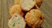 طرز تهیه توپک مرغ و پنیر سوخاری خوشمزه و ساده مرحله به مرحله
