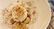 طرز تهیه بستنی قهوه خانگی ساده و خوشمزه با خامه بدون ثعلب
