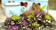 طرز تهیه شکلات آلمانی ساده و خوشمزه با بیسکویت پتی بور بدون فر