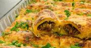 طرز تهیه کرپ گوشت و قارچ و پنیر پیتزا خوشمزه با فر و بدون فر