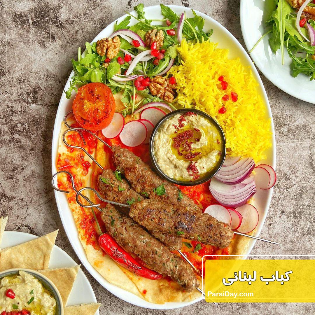 طرز تهیه کباب لبنانی اصل خوشمزه و بازاری با گوشت چرخ کرده