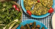 طرز تهیه کوکو برگ کرفس ساده، خوشمزه و رژیمی با سیب زمینی