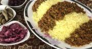 طرز تهیه ونوشک پلو کرمانشاهی خوشمزه و محلی با گوشت چرخ کرده