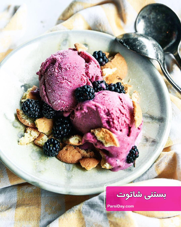 طرز تهیه بستنی شاتوت ساده و خوشمزه با شیر و ثعلب و خامه
