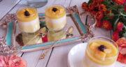 طرز تهیه دسر انبه سه رنگ خوشمزه و مجلسی با شیر و خامه