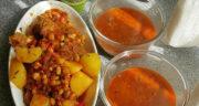طرز تهیه آبگوشت فلفل همدان خوشمزه با گوجه مرحله به مرحله