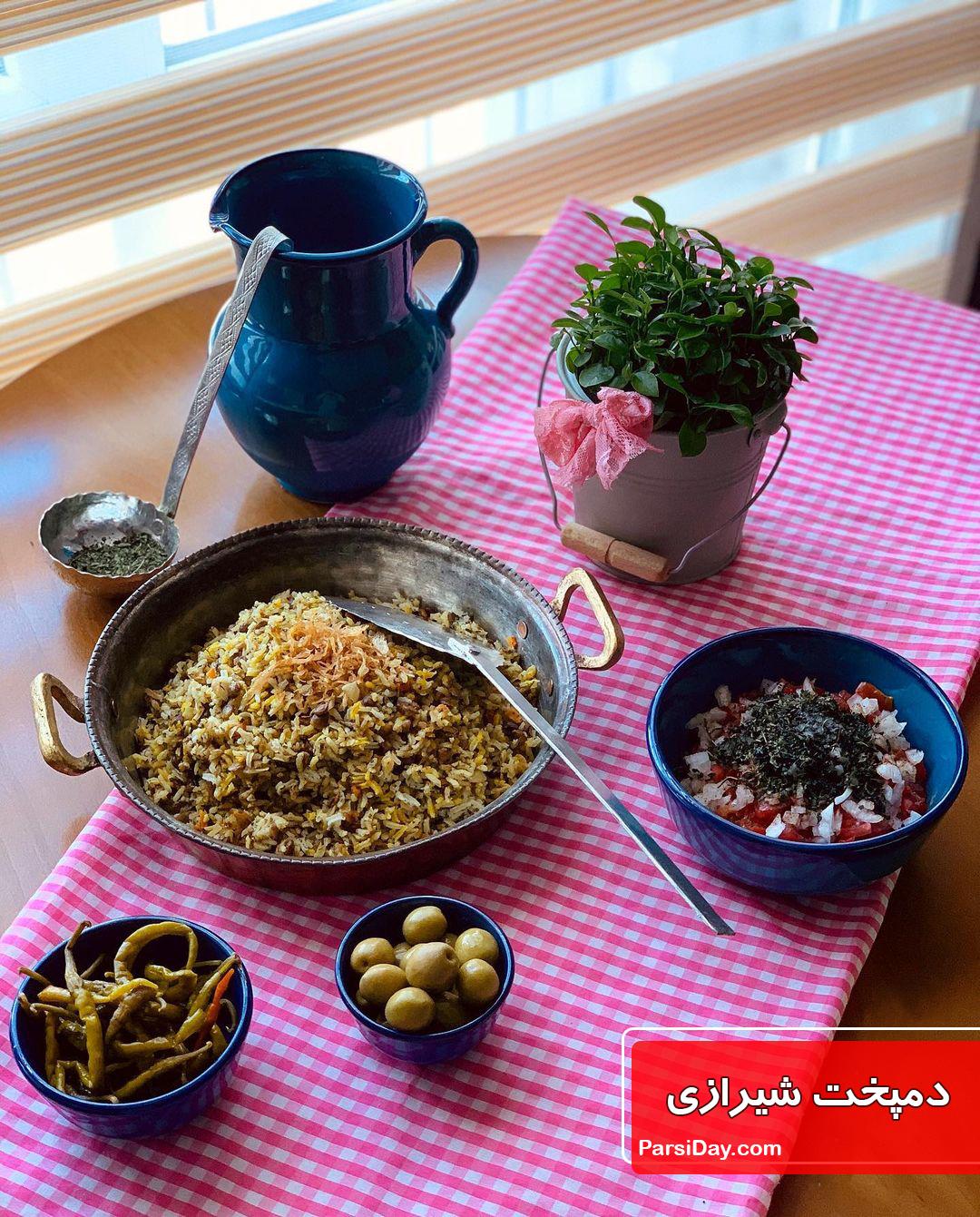 طرز تهیه دمپخت شیرازی ساده با عدس بدون گوشت مرحله به مرحله