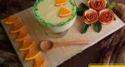 طرز تهیه فرنی پرتقالی ساده و خوشمزه با آرد برنج و آب پرتقال
