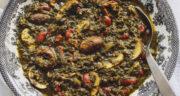 طرز تهیه قورمه سبزی گیاهی با قارچ و لوبیا قرمز خوشمزه و مقوی