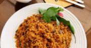 طرز تهیه لوبیا پلو بدون گوشت و مرغ [گیاهی] خوشمزه با سیب زمینی