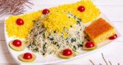 طرز تهیه پیازچه پلو زعفرانی ساده، خوشمزه و مجلسی با مرغ
