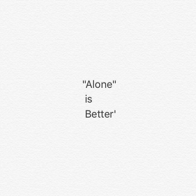 دلنوشته تنهایی بهتره