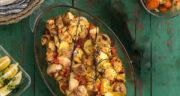 طرز تهیه خوراک مرغ و سیب زمینی و هویج در فر و بدون فر