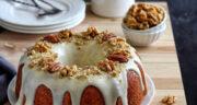 طرز تهیه کیک دارچینی خانگی اسفنجی با گردو ساده و خوشمزه