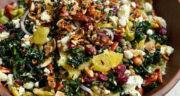 طرز تهیه سالاد عدس خوشمزه، مجلسی و رژیمی با پیازچه و پنیر