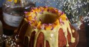 طرز تهیه کیک انبه اسفنجی ساده و خوشمزه مرحله به مرحله
