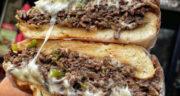 طرز تهیه ساندویچ گوشت چرخ کرده و قارچ خانگی و خوشمزه با پنیر