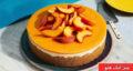 طرز تهیه چیز کیک هلو با ژله و بیسکویت پتی بور ساده و خوشمزه