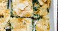 طرز تهیه پای اسفناج و قارچ ساده و خوشمزه با خمیر یوفکا در فر