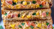 طرز تهیه ساندویچ سبزیجات ساده، سالم و خوشمزه بدون گوشت