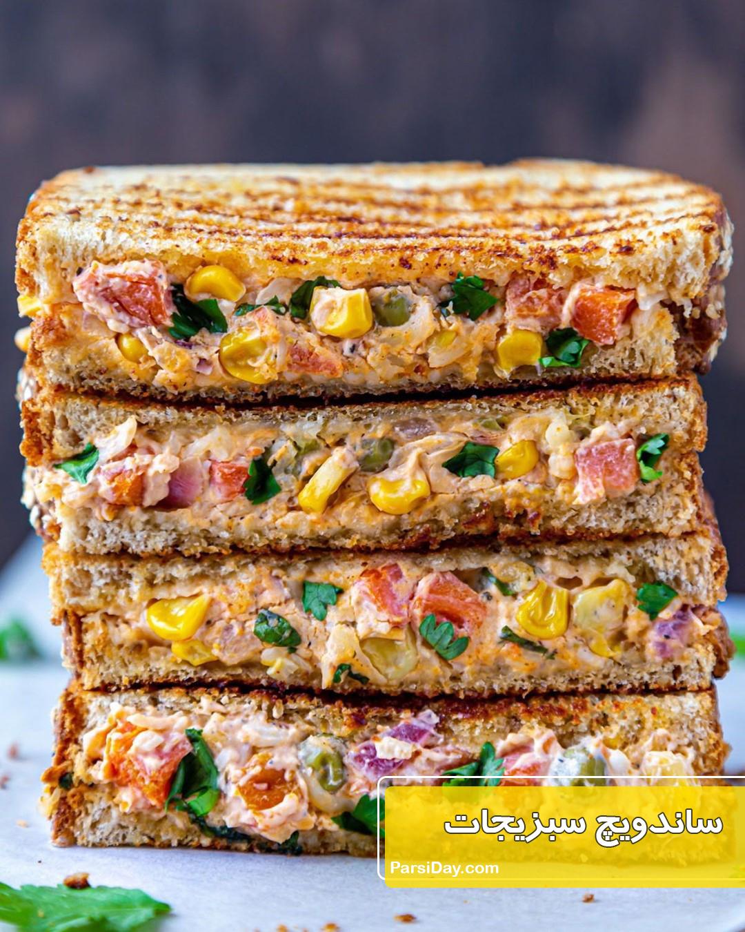 طرز تهیه ساندویچ سبزیجات