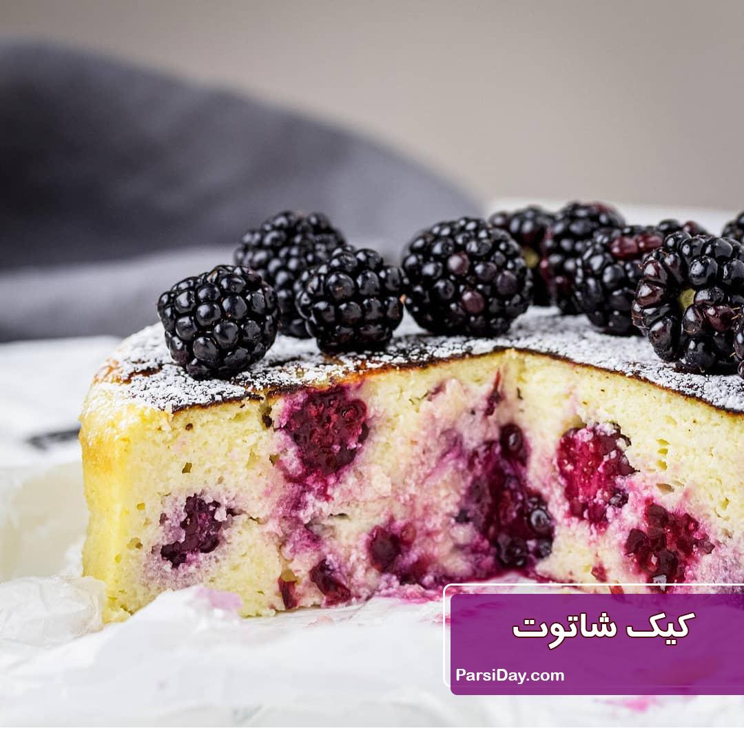 طرز تهیه کیک شاتوت ساده و خوشمزه و مجلسی مرحله به مرحله