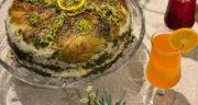 طرز تهیه کاهو پلو زعفرانی با مرغ ساده و خوشمزه به روش آسان