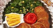 طرز تهیه کتلت لوبیا سفید ساده و خوشمزه با سیب زمینی و بدون گوشت