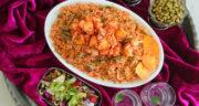 طرز تهیه لوبیا پلو با مرغ رستورانی و مجلسی مرحله به مرحله