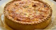 طرز تهیه کیش لورن فرانسوی خوشمزه و آسان با ژامبون و پنیر