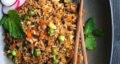 طرز تهیه پلو چینی با سبزیجات و برنج قهوه ای خوشمزه و سالم