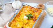 طرز تهیه لازانیا با کدو سبز و پنیر خوشمزه و آسان بدون گوشت