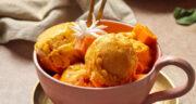 طرز تهیه بستنی انبه خانگی ساده و خوشمزه با شیر و خامه بدون ثعلب