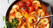 طرز تهیه خورش میگو و سیب زمینی ساده و خوشمزه به سبک جنوبی