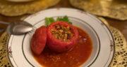 طرز تهیه دلمه گوجه فرنگی مجلسی و سنتی با گوشت بدون فر