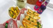 طرز تهیه اسنک تن ماهی و پیازچه و پنیر خامه ای ساده و خوشمزه